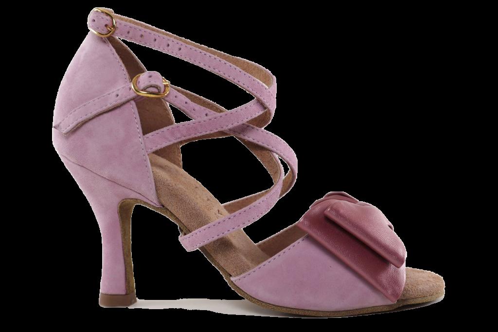 Sapato de Dança Senhora - Moon com Laço Woman Dance Shoe - Moon Bow